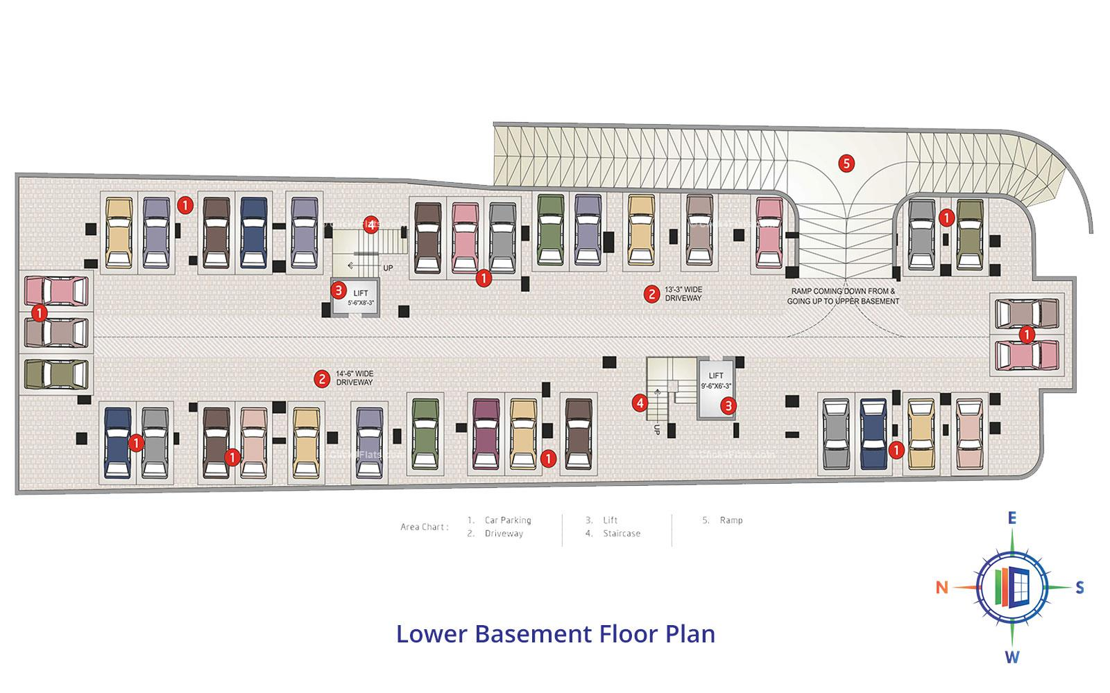 Shivgyan Heights Lower Basement Floor Plan