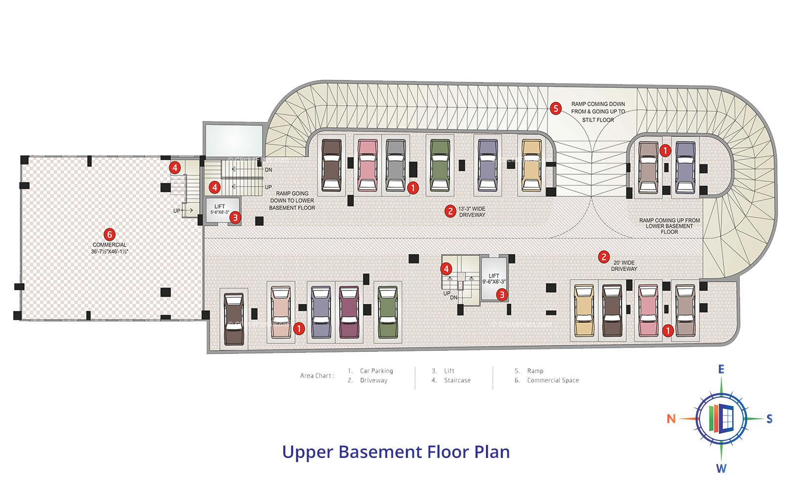 Shivgyan Heights Upper Basement Floor Plan