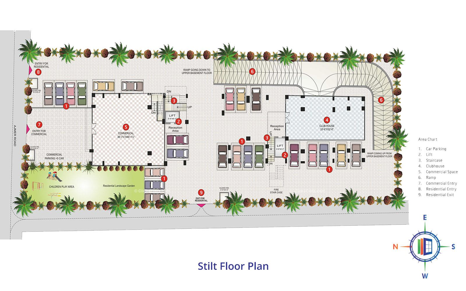 Shivgyan Heights Stilt Floor Plan