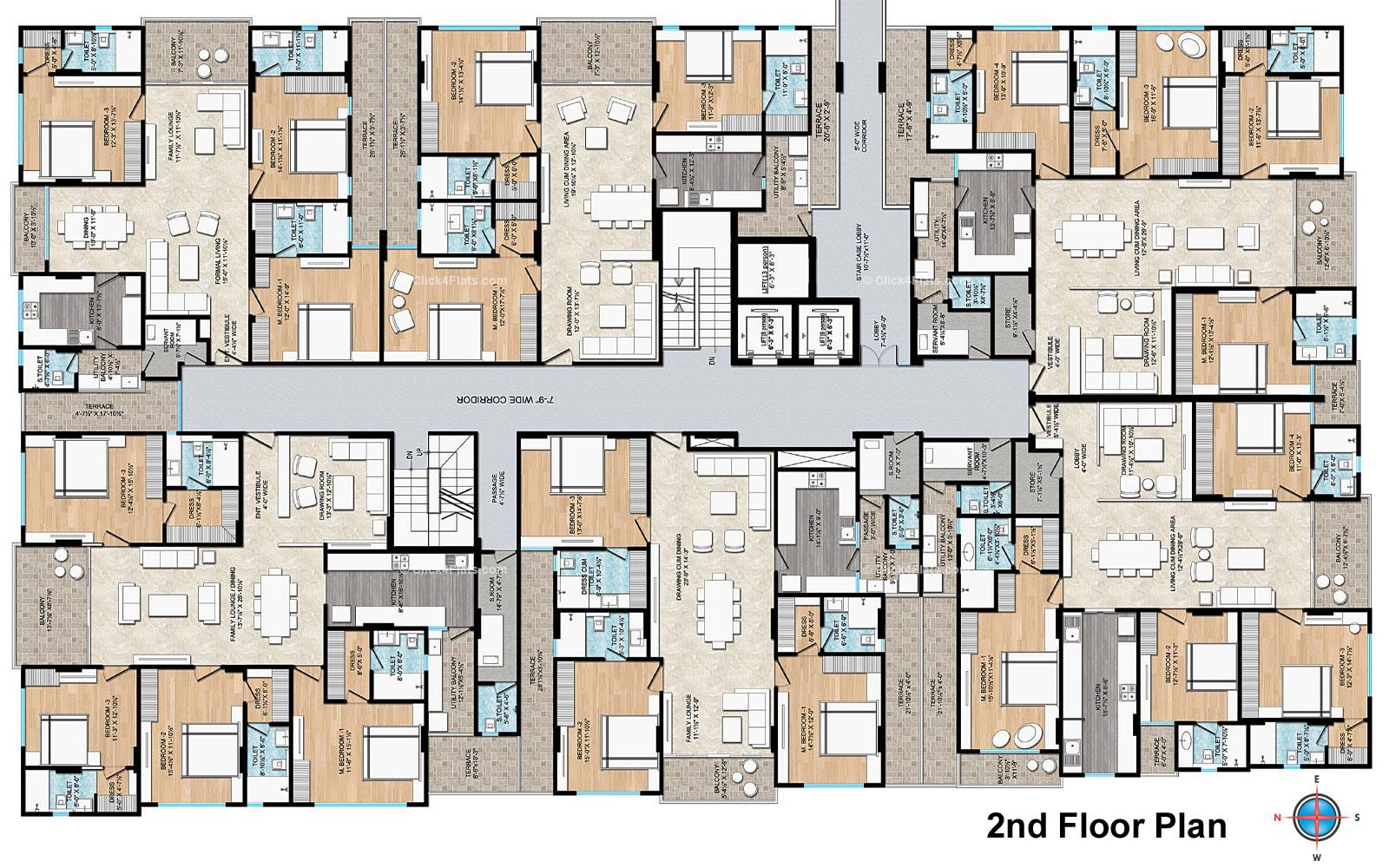 Air Ridhiraj AAA Group 2ND Floor Typical Layout