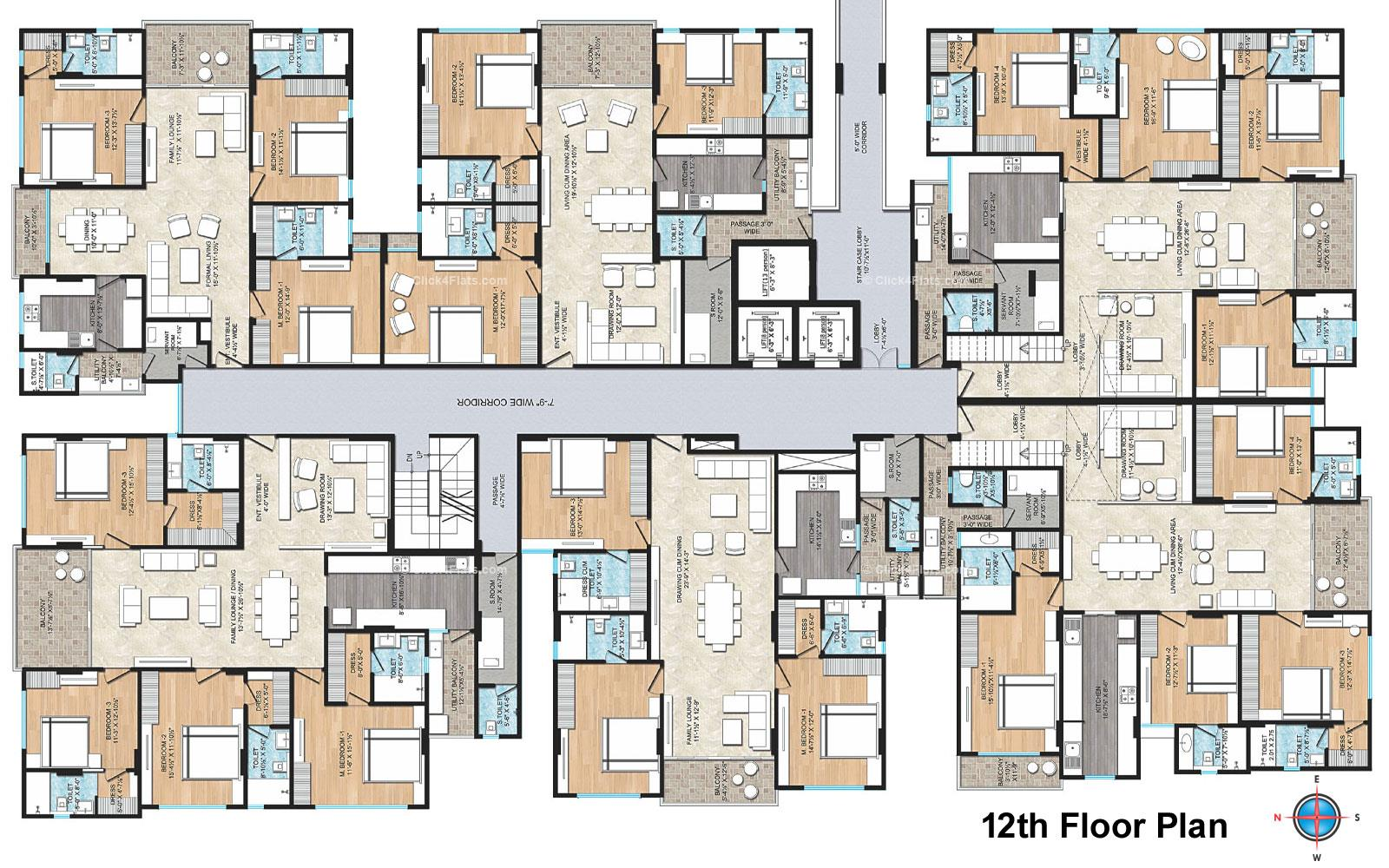 Air Ridhiraj AAA Group 12TH Floor Typical Layout
