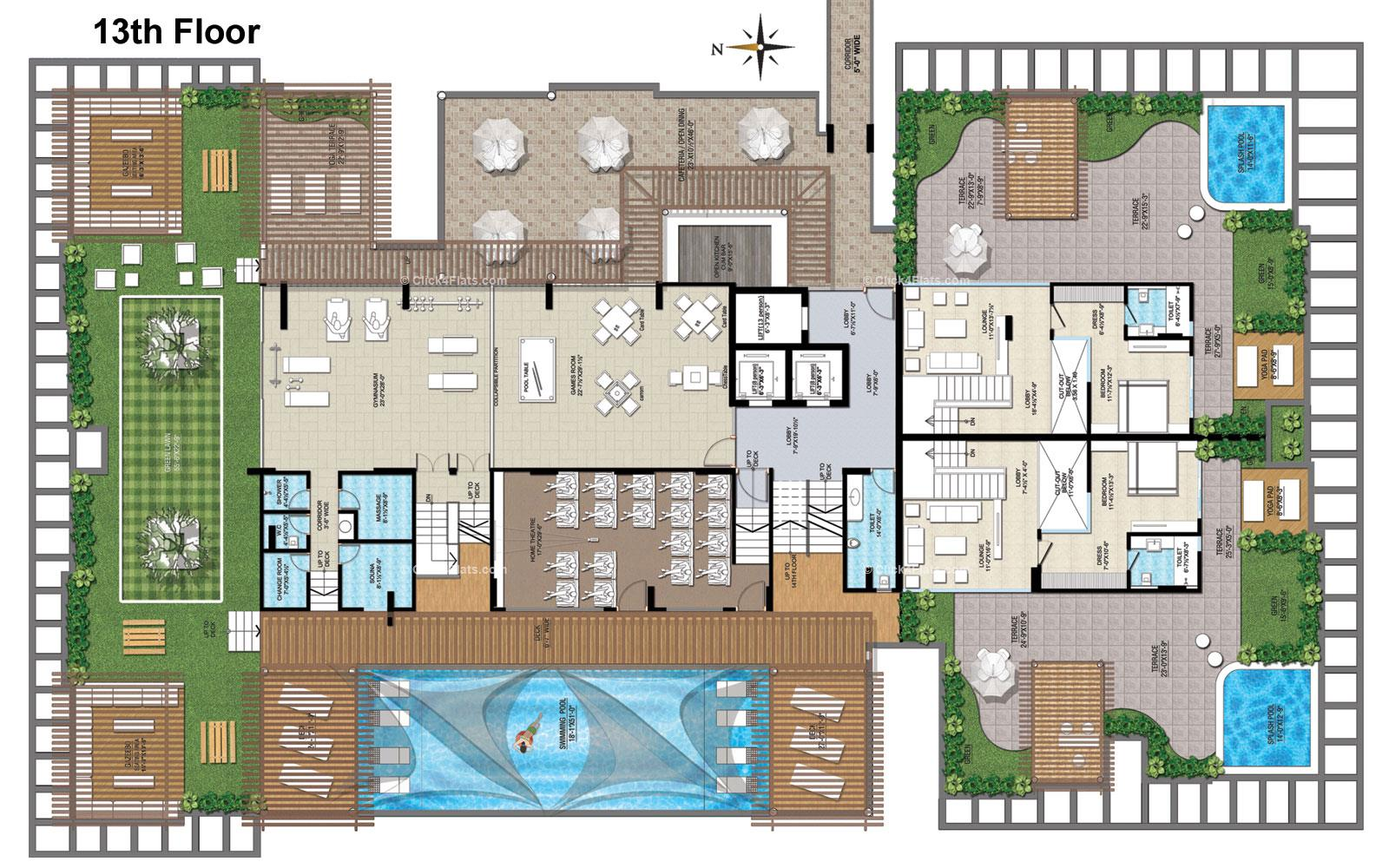 Air Ridhiraj AAA Group Club Air - 13TH Floor Plan