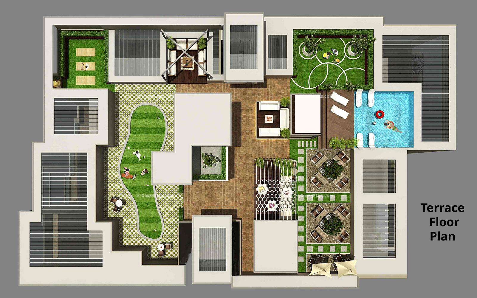 The Park Central Terrace Floor Plan