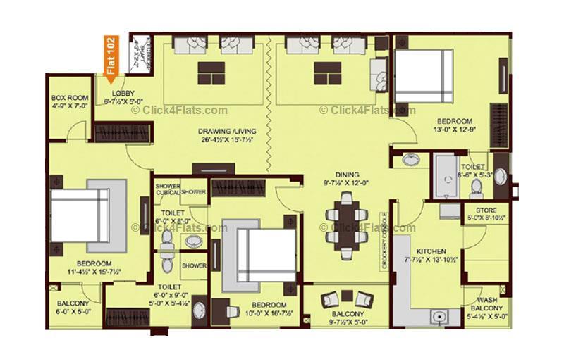 Ridhiraj Enclave 3 BHK 2263 square feet