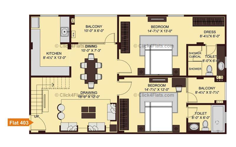 Ridhiraj Enclave 3 BHK 2105 square feet