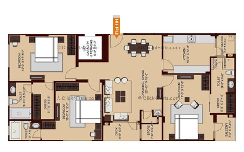 Ridhiraj Enclave 3 BHK 2129 square feet