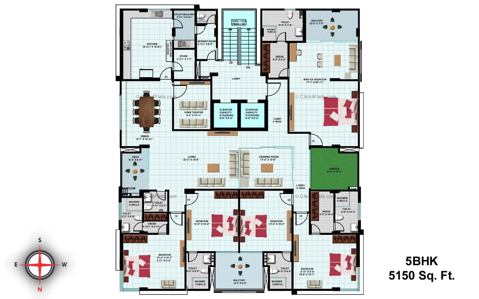 Ridhiraj Bungalow 8 5 BHK 5150 square feet