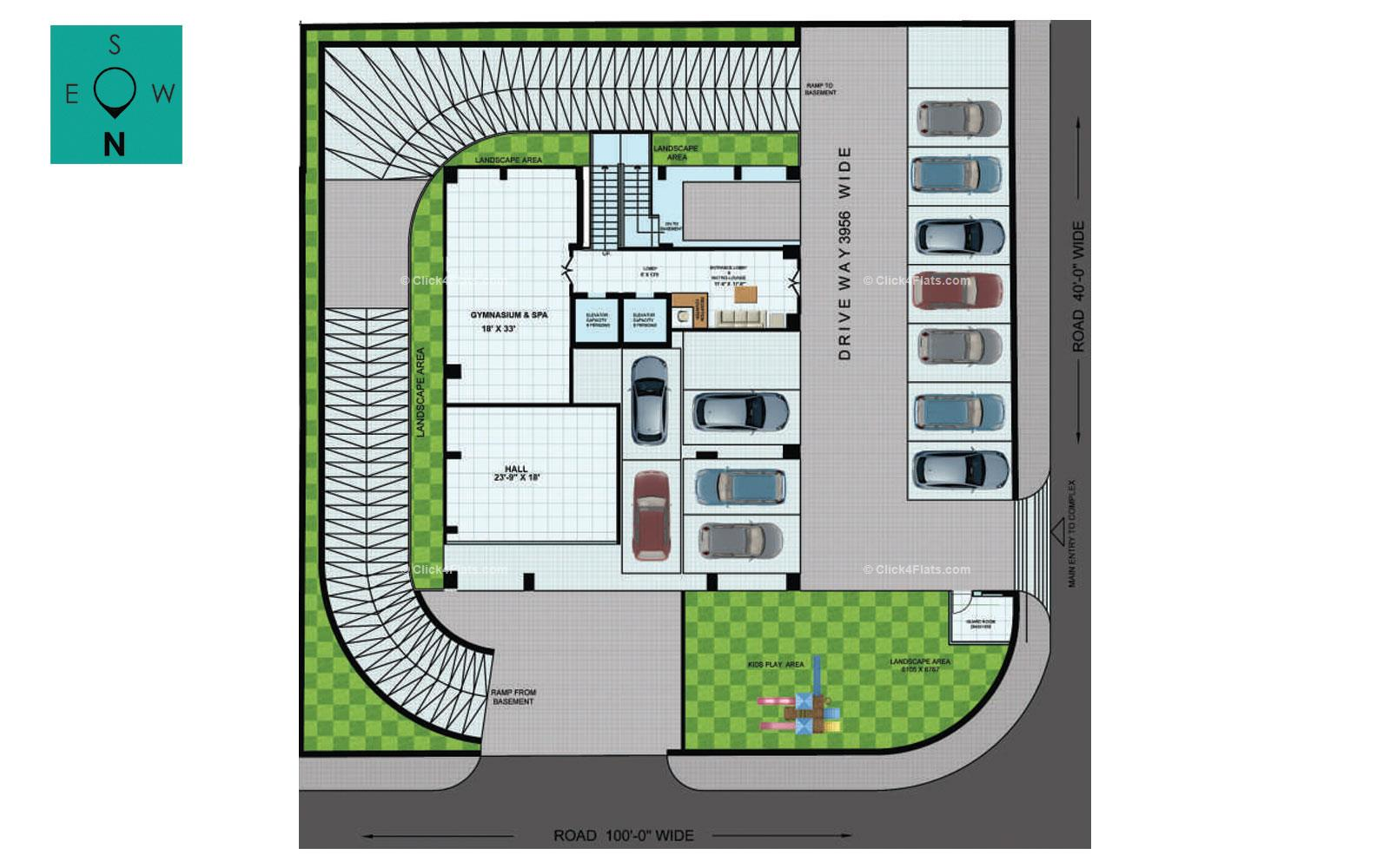 Ridhiraj Bungalow 8 on Split Floor Plan Living Room