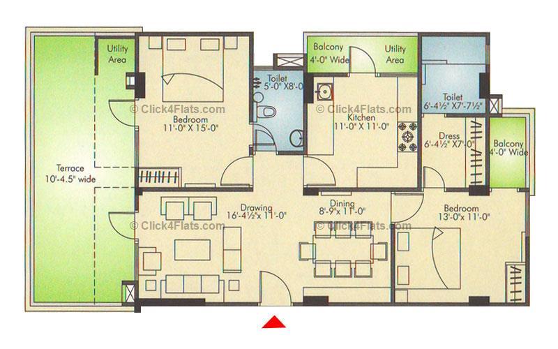 Ridhiraj Residency 2 BHK 1621 square feet