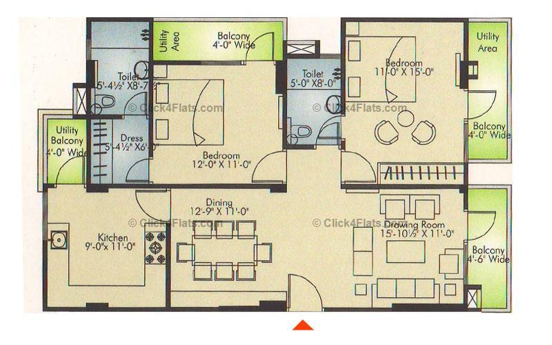 Ridhiraj Residency 2 BHK 1390 square feet