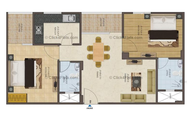 Royal Castle 2 BHK