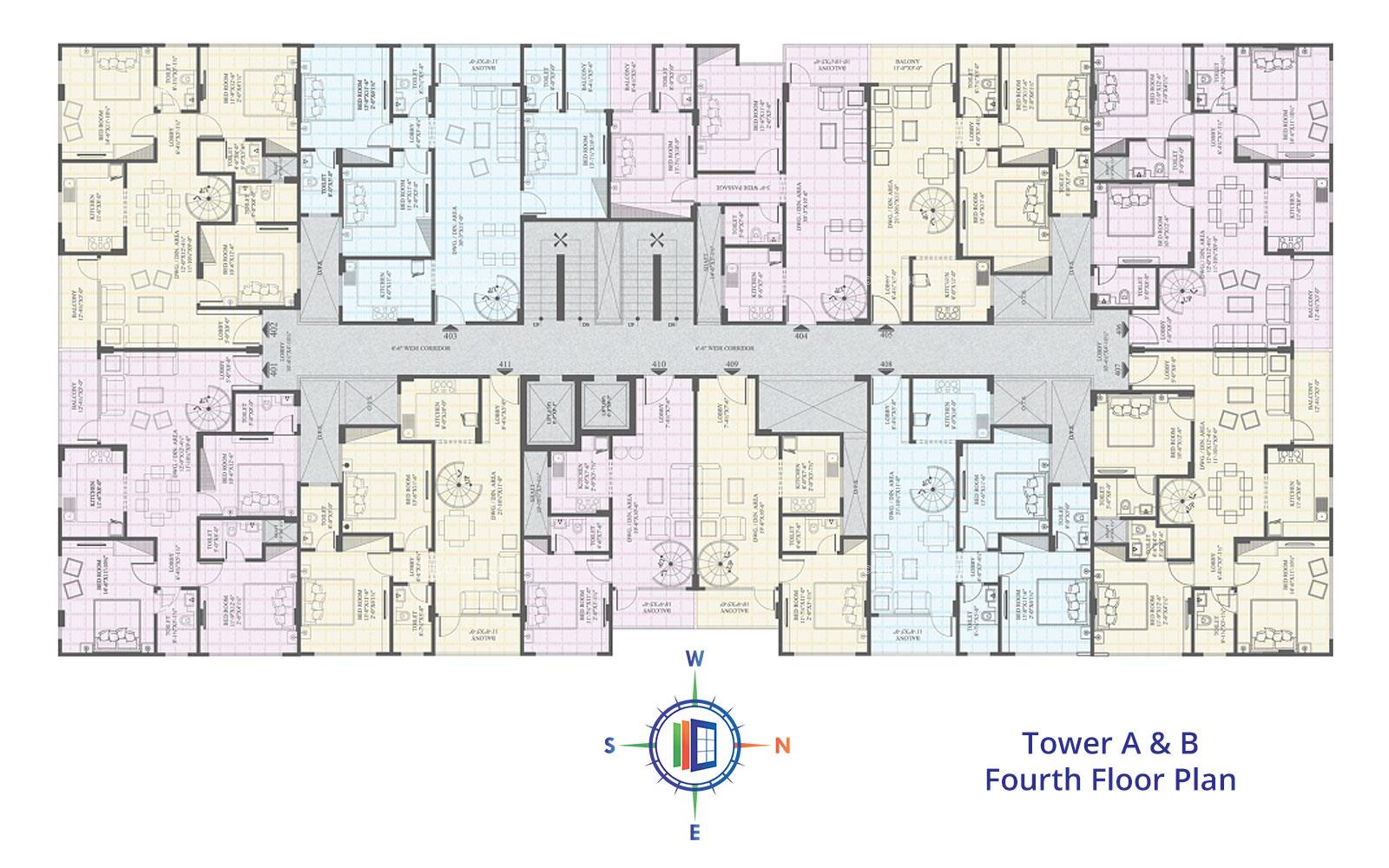 Ecoscape Fourth Floor Plan