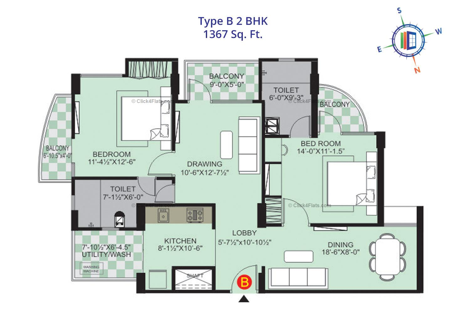 Sunny Enclave 1 2 BHK