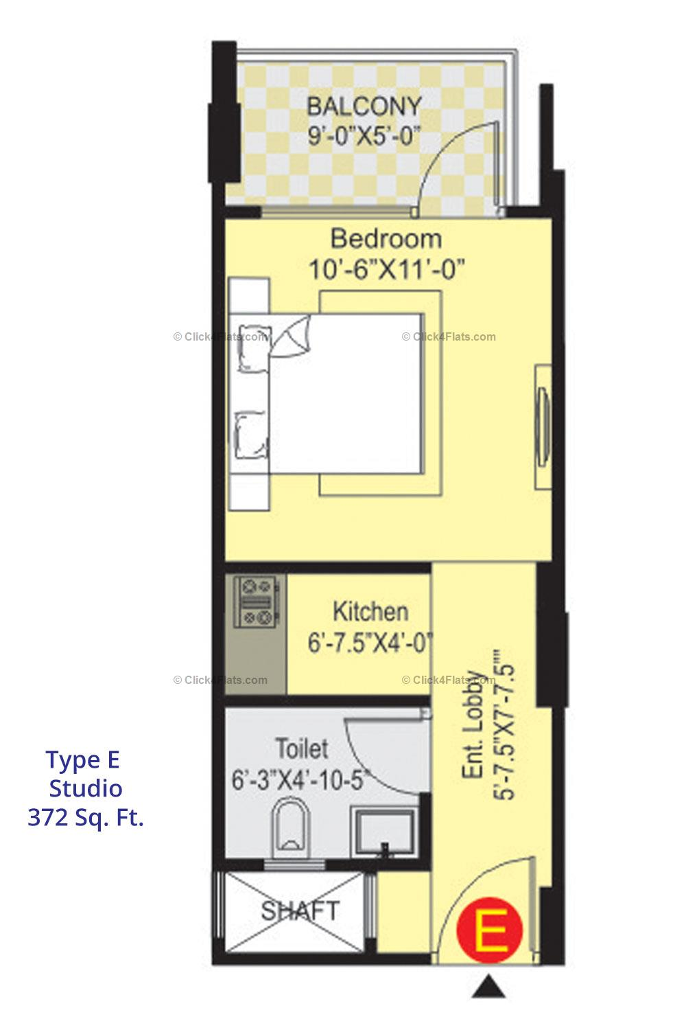Sunny Enclave 1 1 BHK