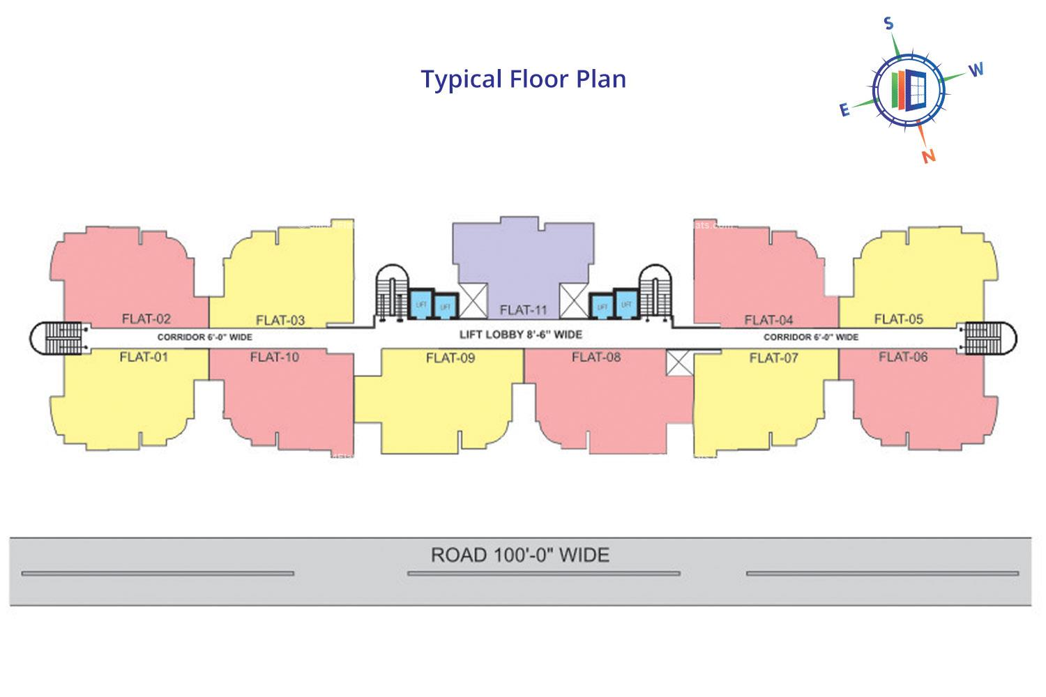 Sunny Enclave 1 Typical Floor Plan