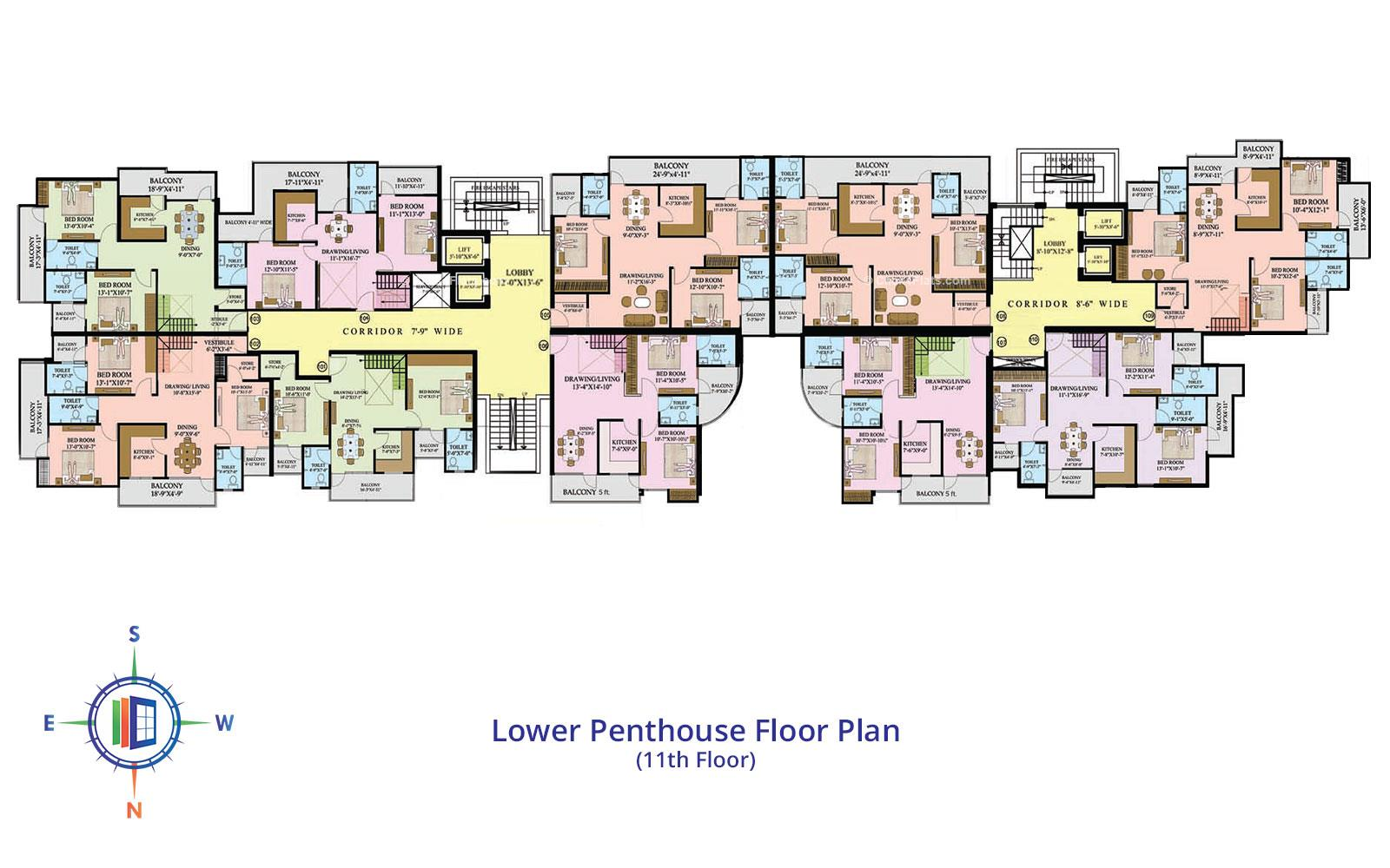 Star Valley Lower Penthouse Floor Plan