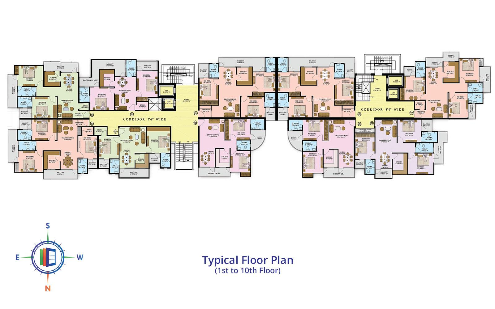 Star Valley Typical Floor Plan