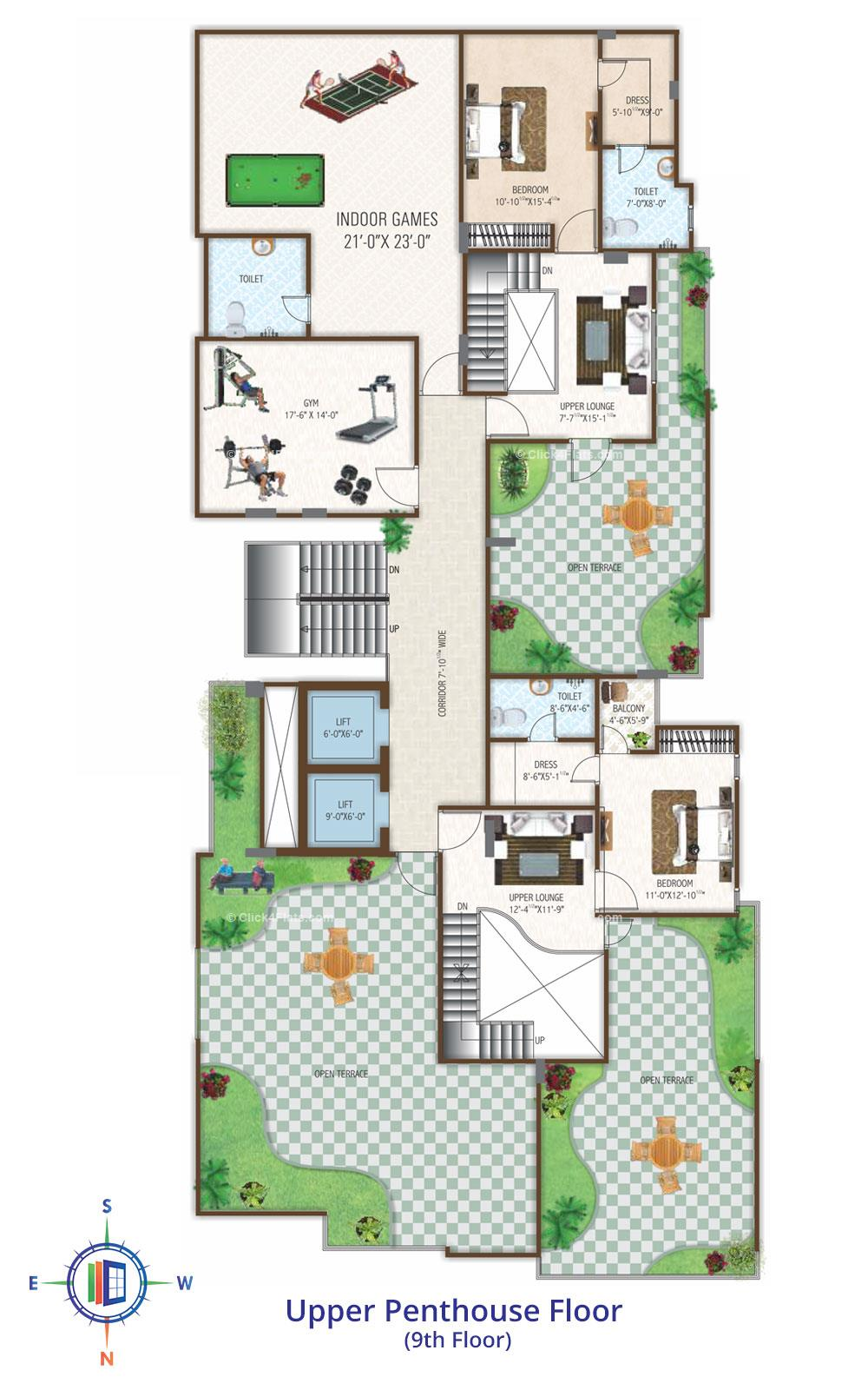 Festiva Upper Penthouse Floor Plan