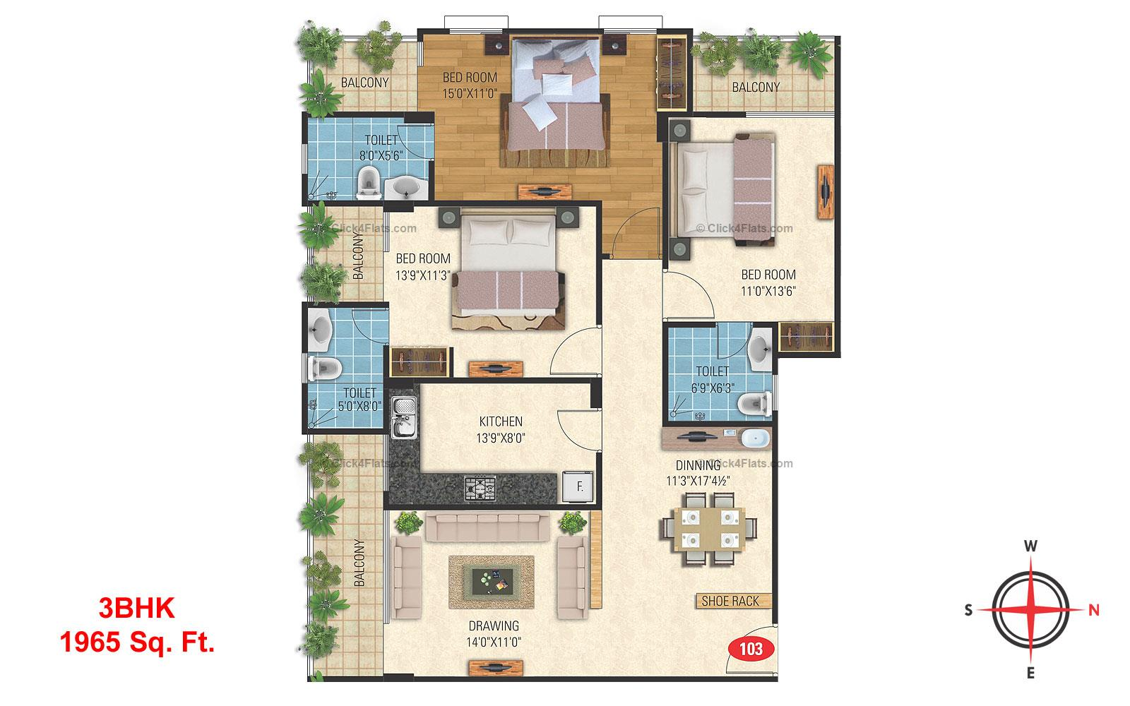Misty Meadows 3 BHK