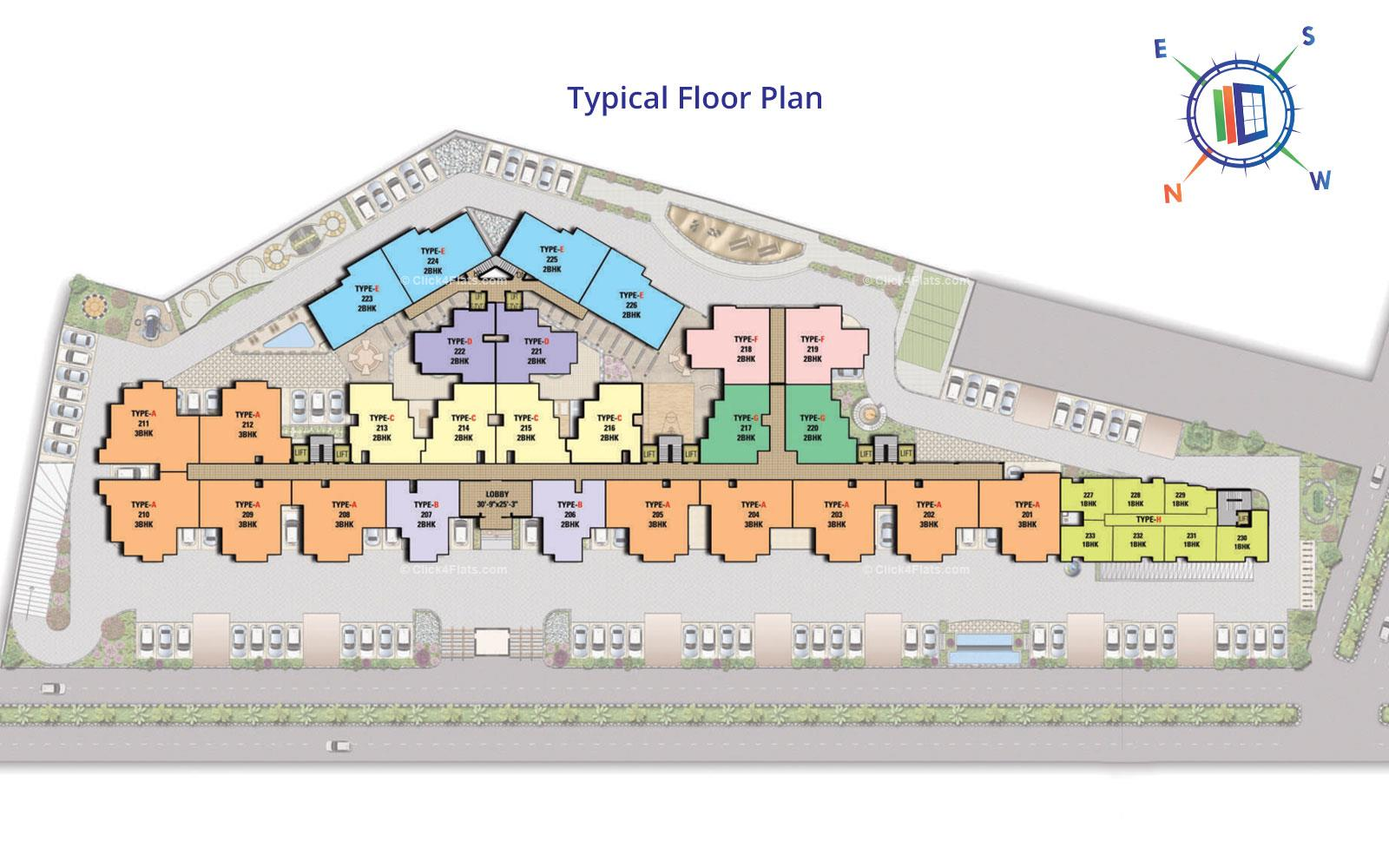 The Destination Typical Floor Plan