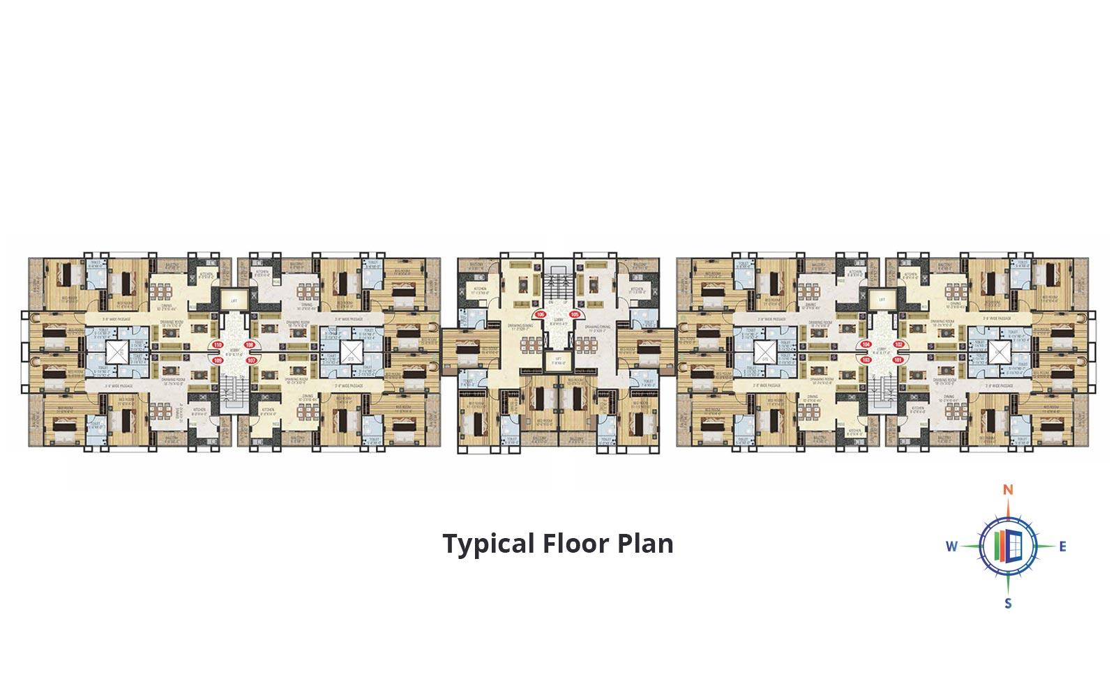 Shrikant Pearl Divine Typical Floor Plan