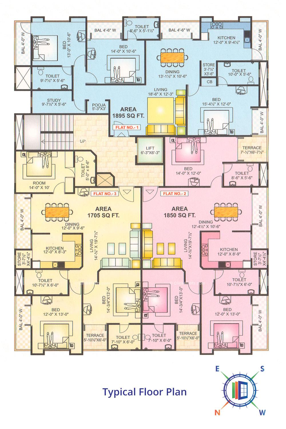 Sapphire Heritage Typical Floor Plan