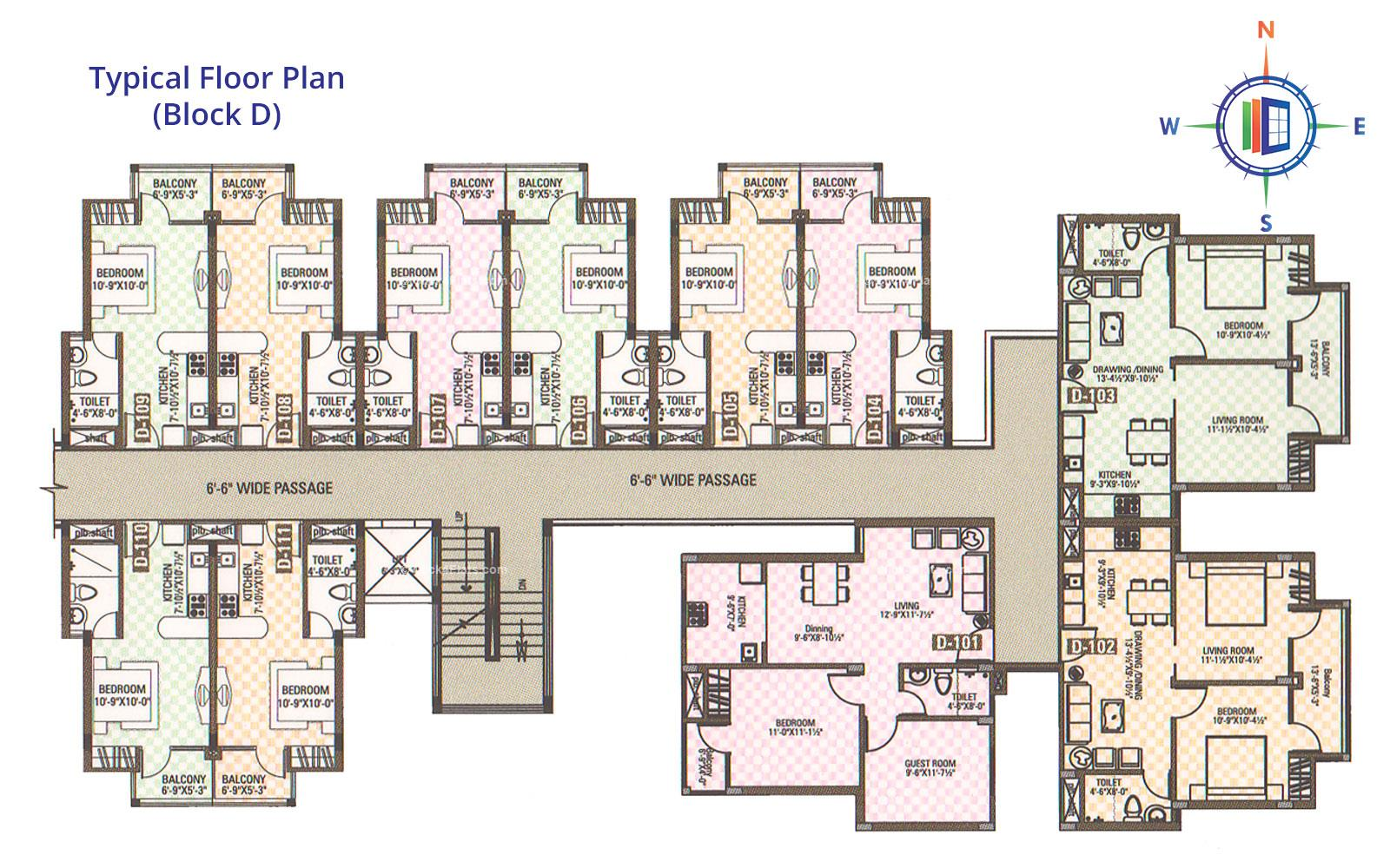 Celebrations Typical Floor Plan (D)