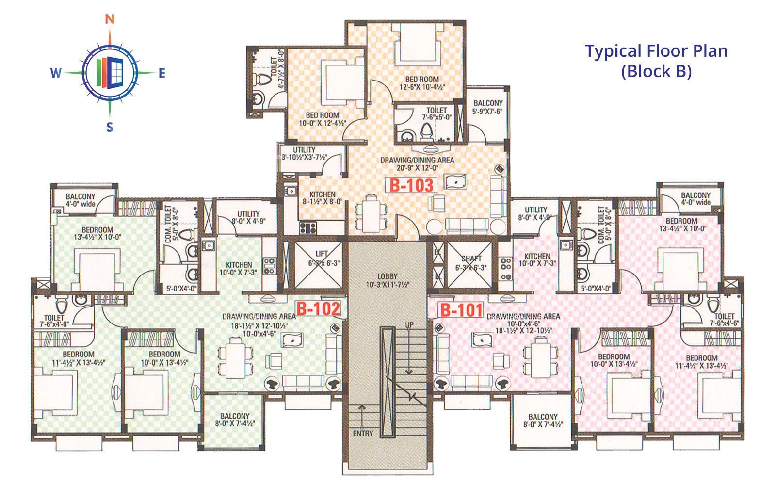 Celebrations Typical Floor Plan (B)