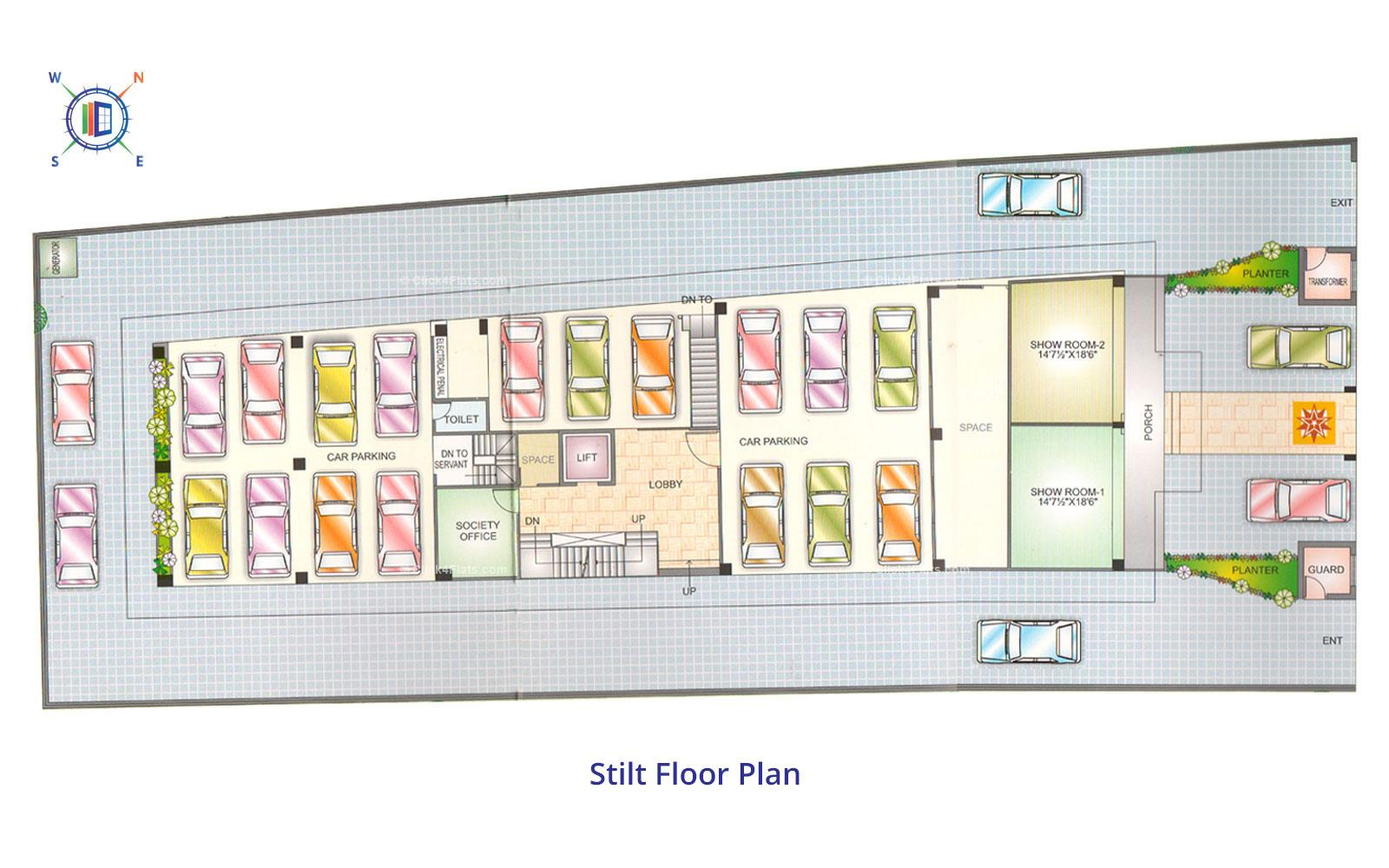 Blue Sky Apartments Stilt Floor Plan
