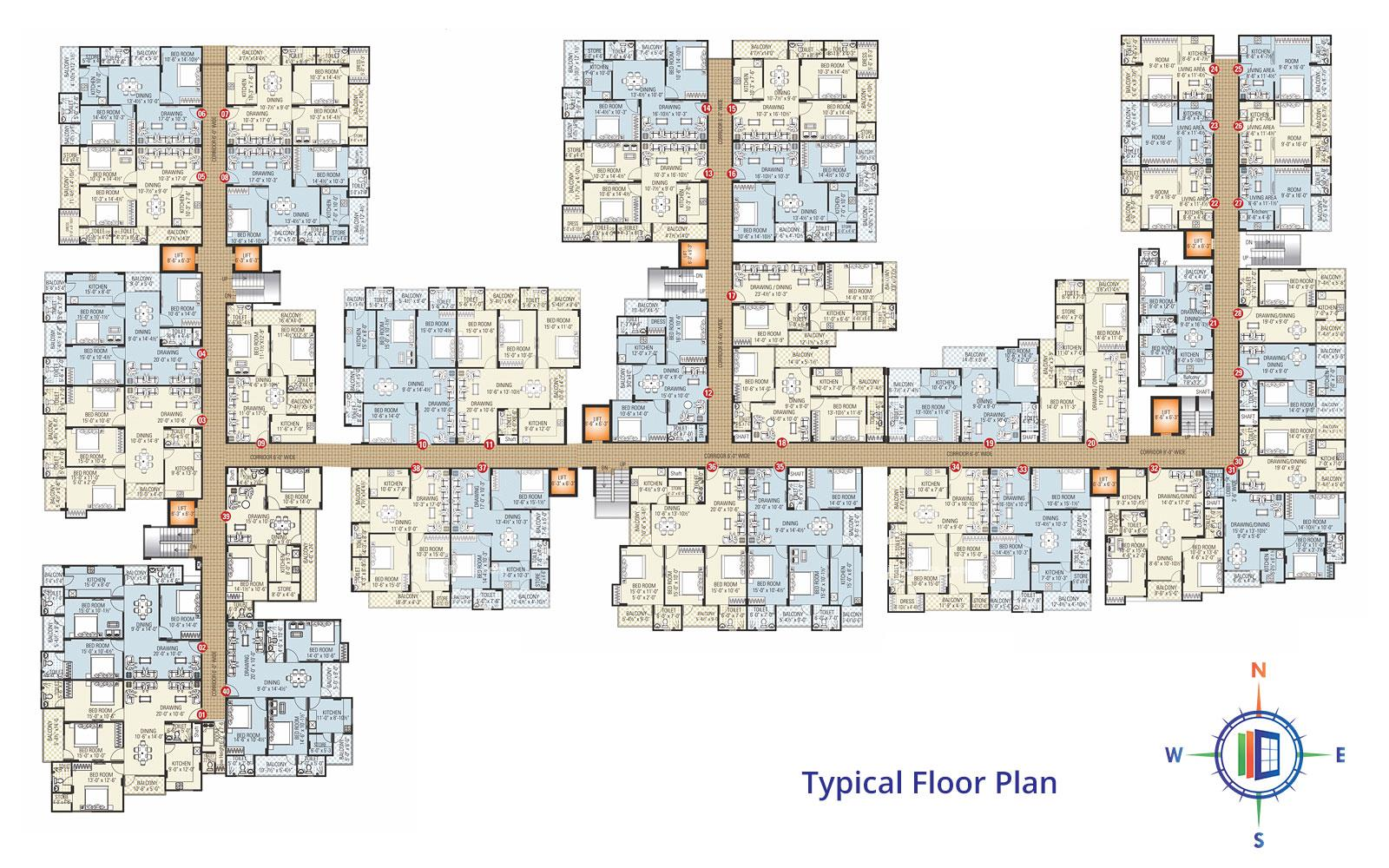 Silver Crown Typical Floor Plan