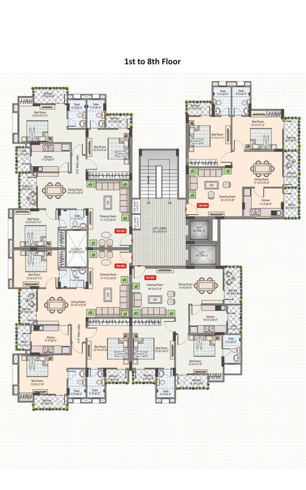 Silver Spring Typical Floor Plan
