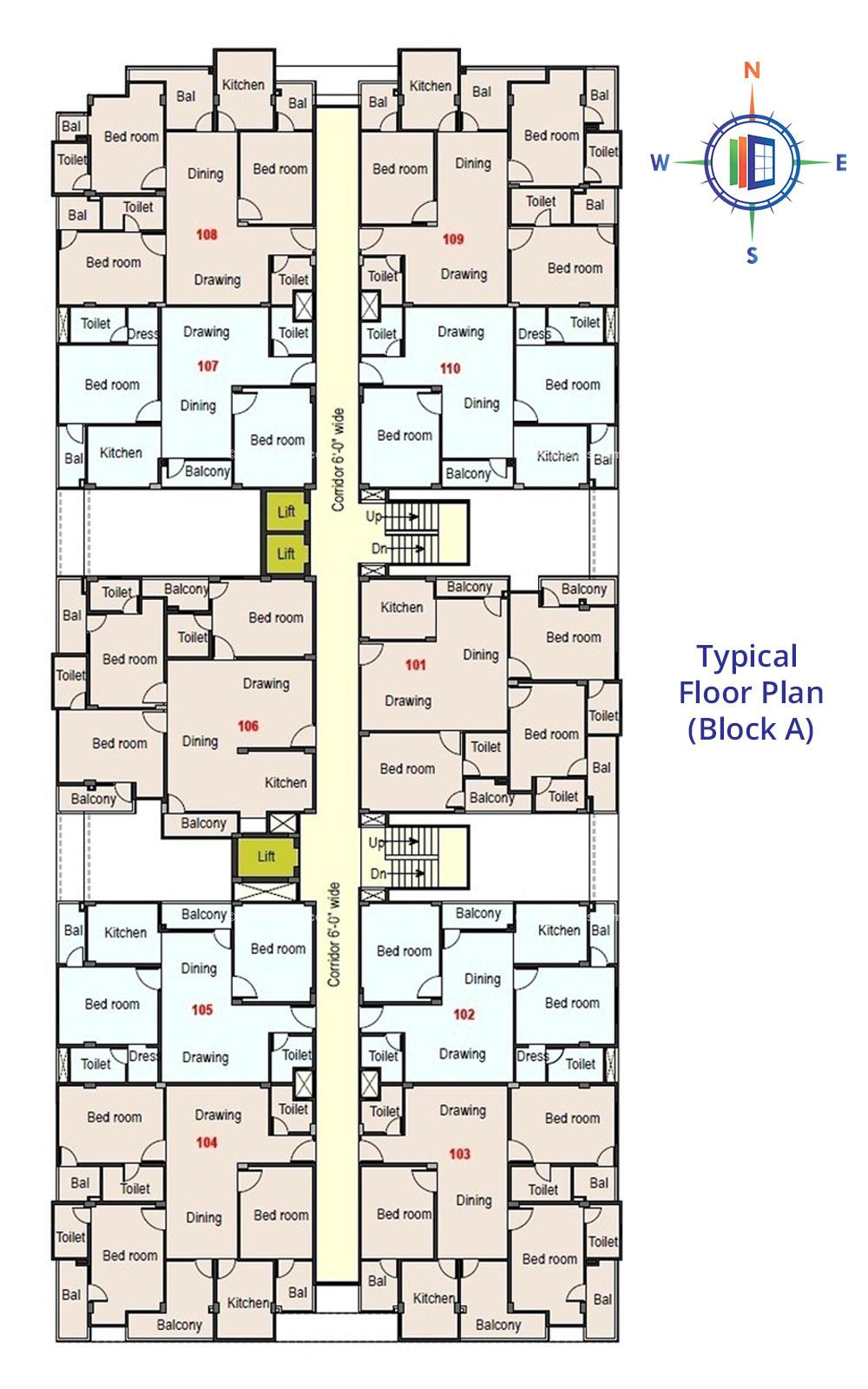 Royale Platinum Typical Floor Plan (Block-A)
