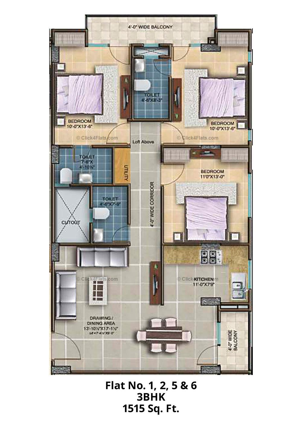 The Royal Twins 3 BHK