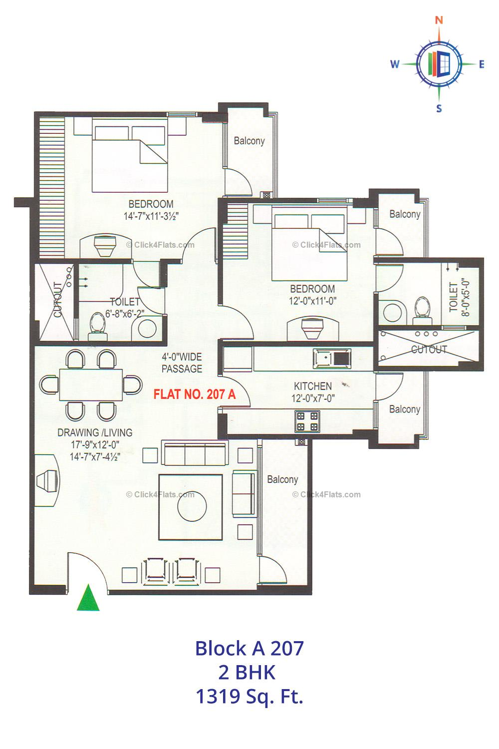 Rosewood Apartments 2 BHK