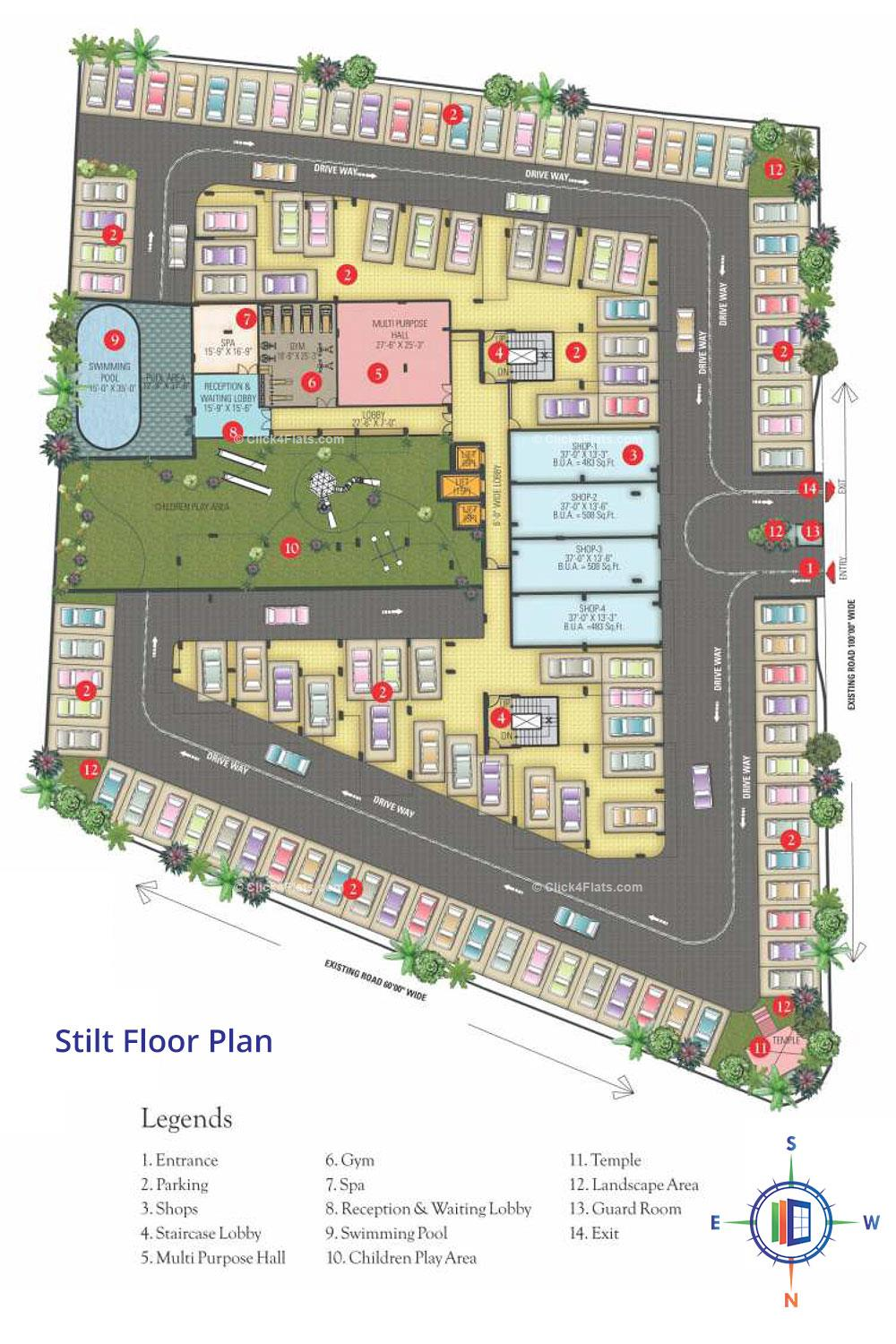 Coral Arihant Heights Stilt Floor Plan