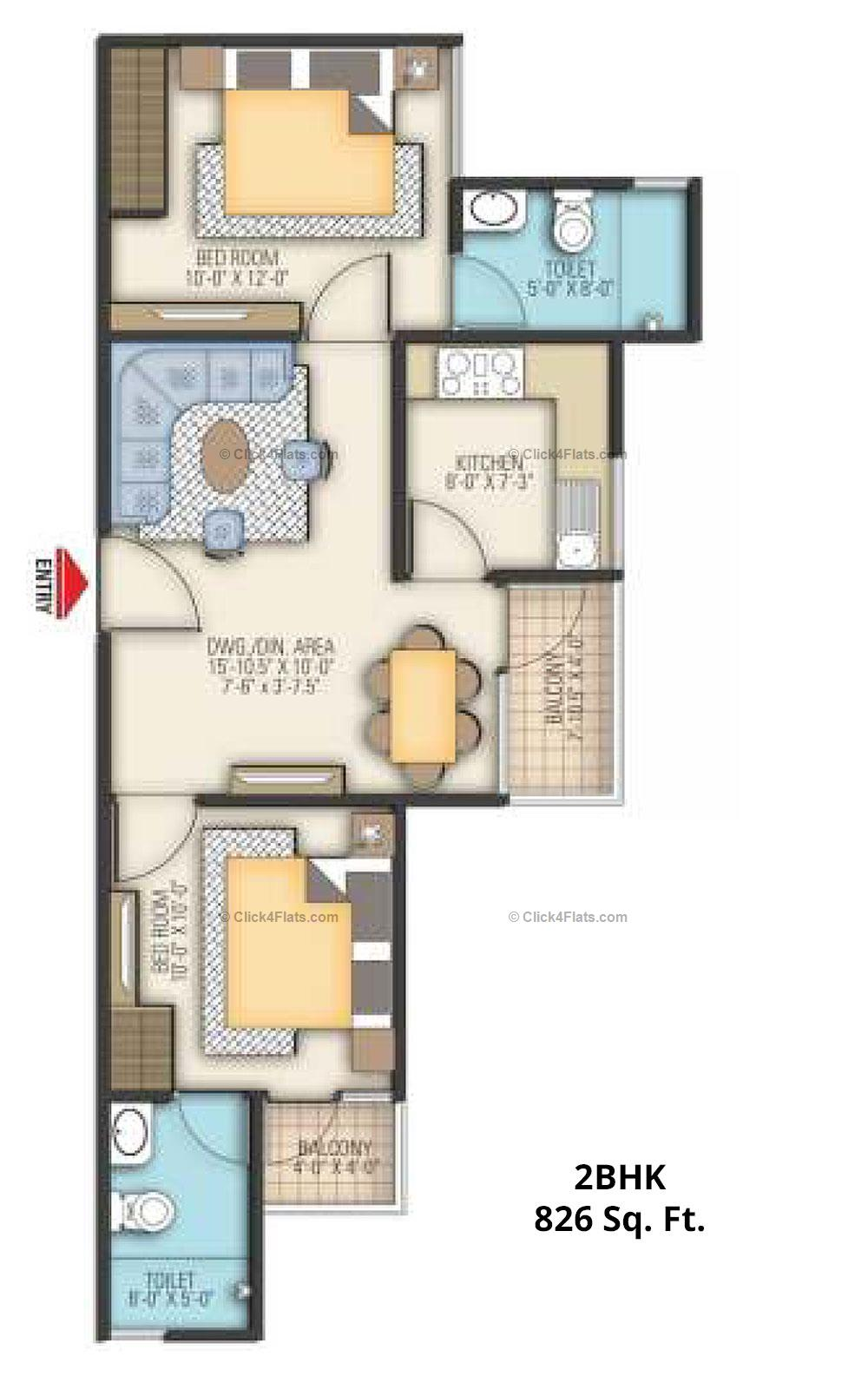 Coral Arihant Heights 2 BHK