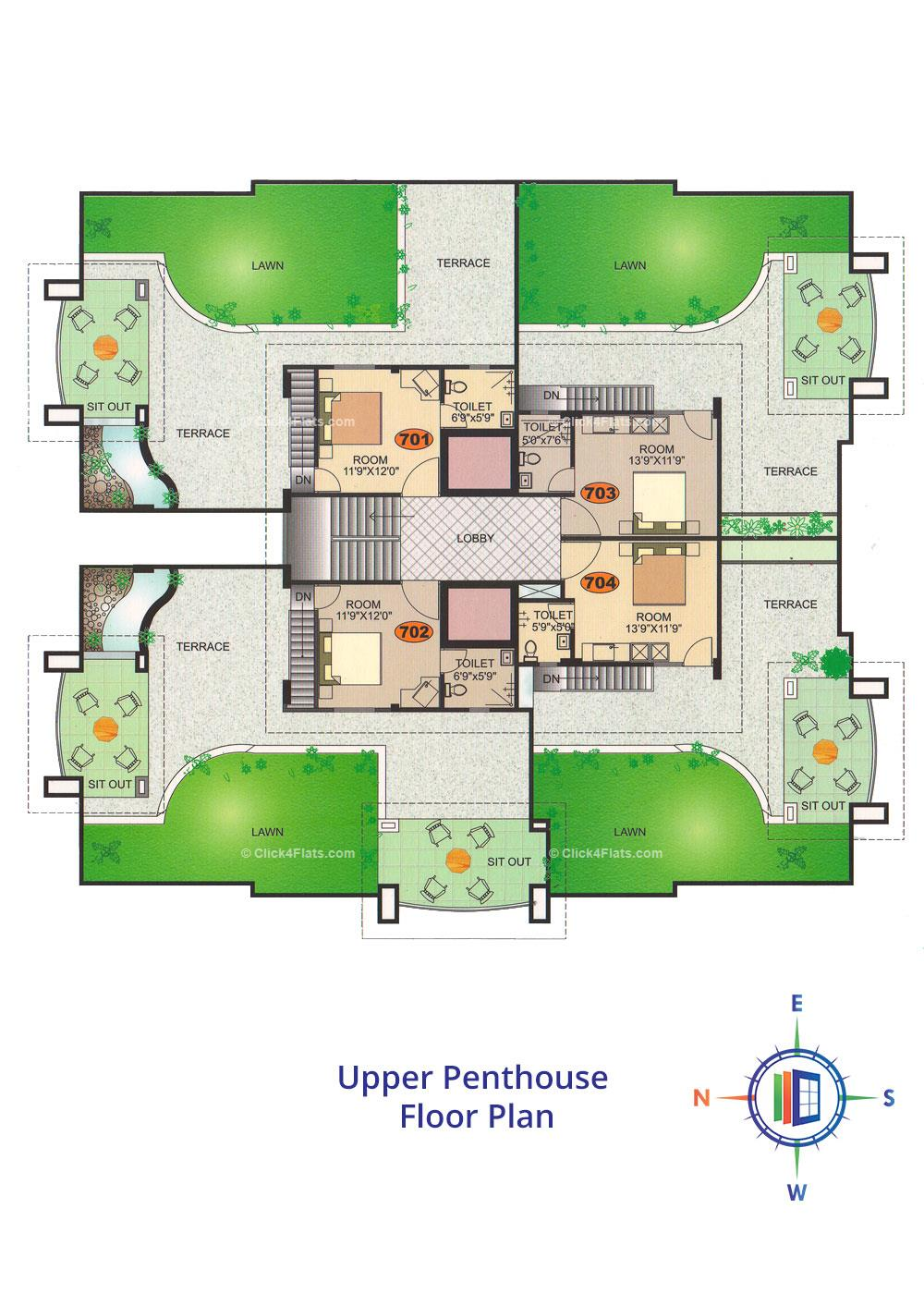 Emerald Akshita Upper Penthouse Floor Plan