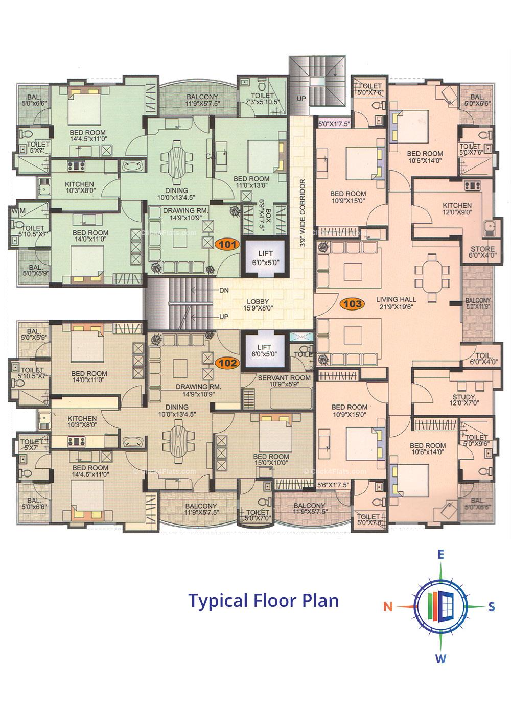 Emerald Akshita Typical Floor Plan