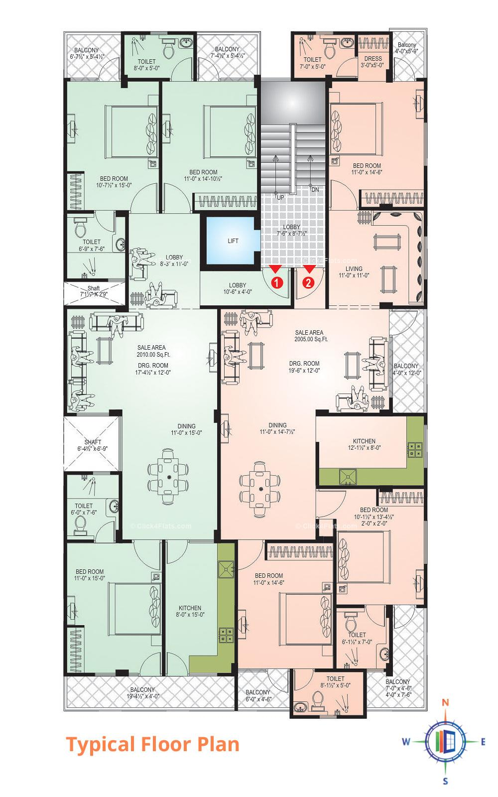 DS Residency Typical Floor Plan