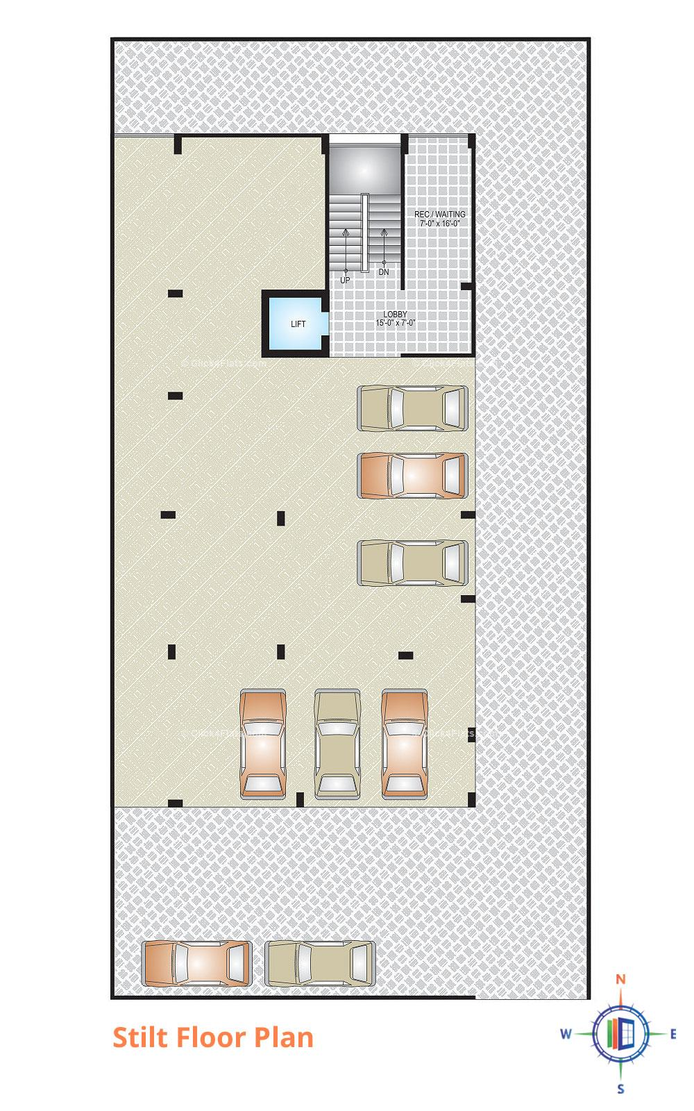 DS Residency Stilt Floor Plan