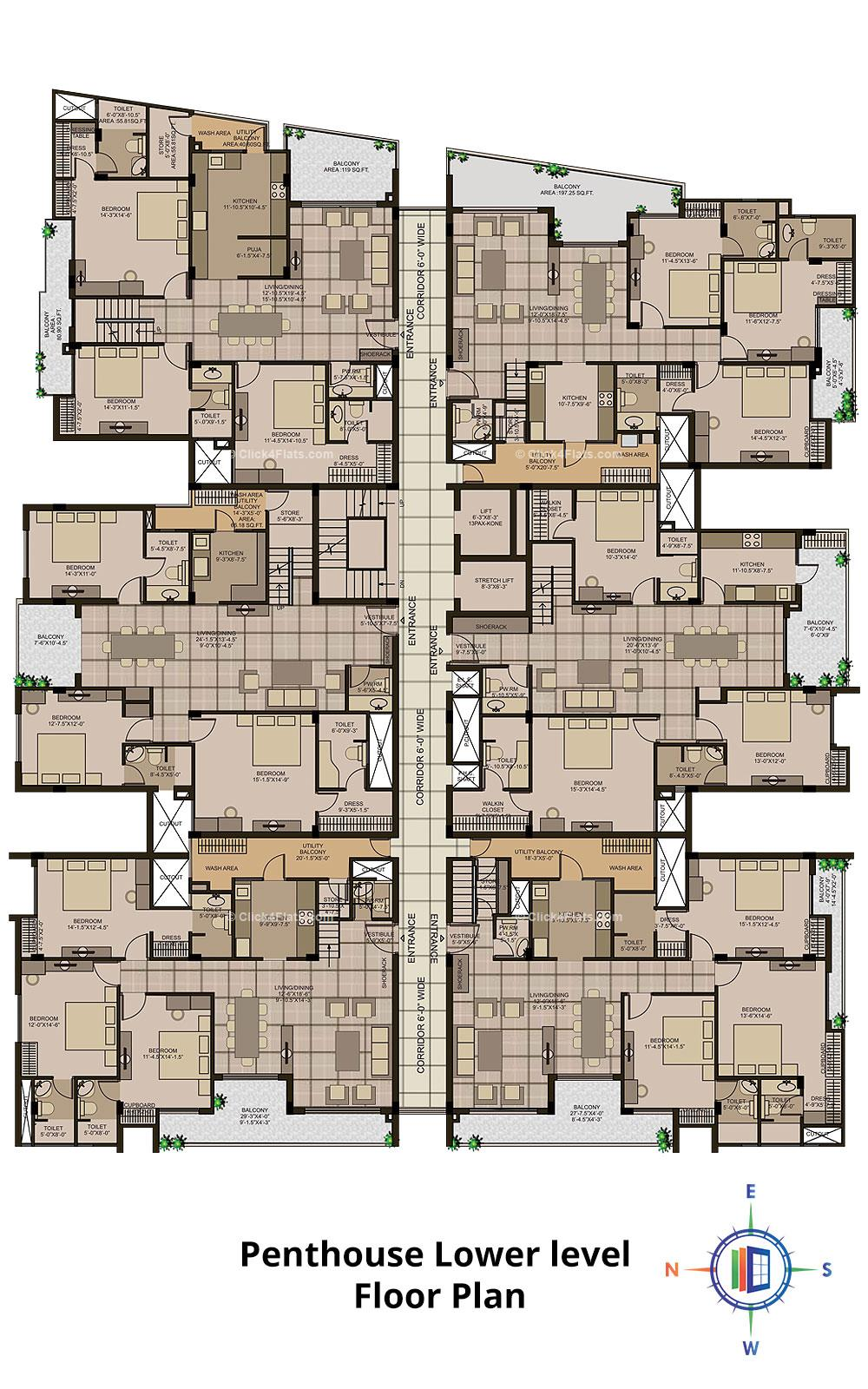 Mayfair Lower Penthouse Plan