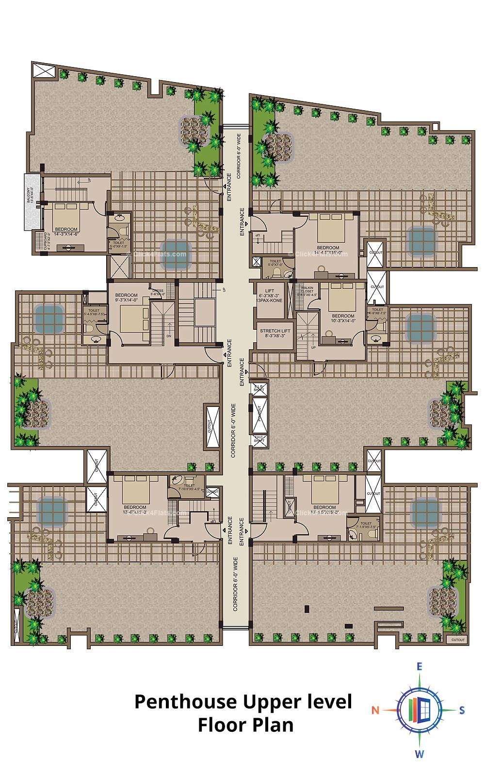 Mayfair Upper Penthouse Plan