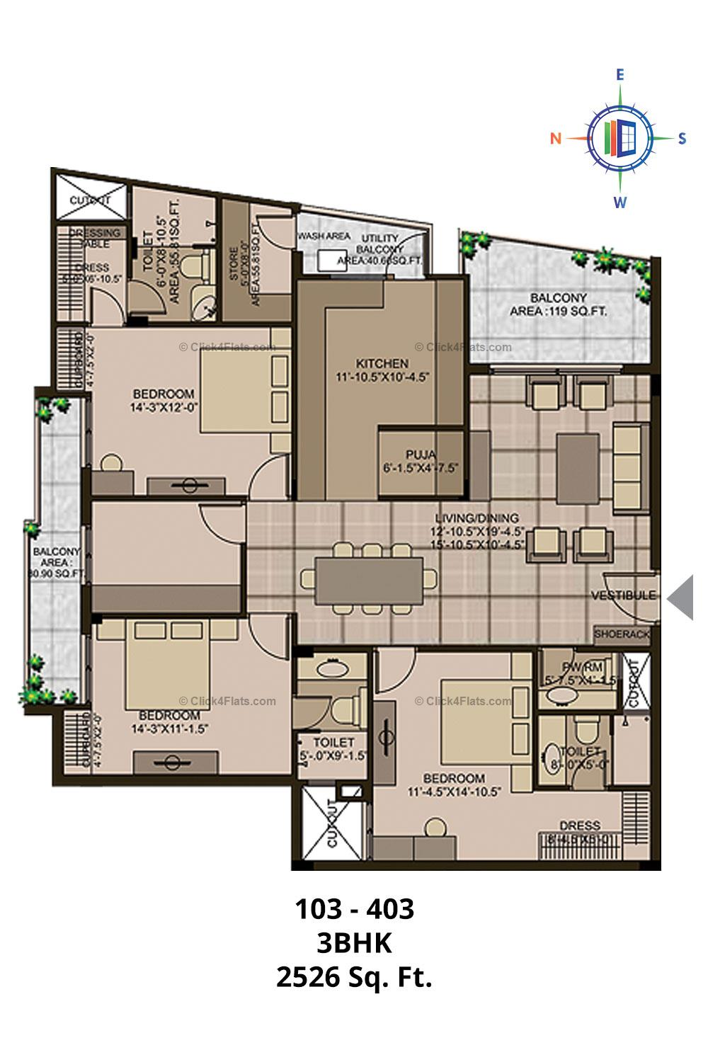 Mayfair 3 BHK