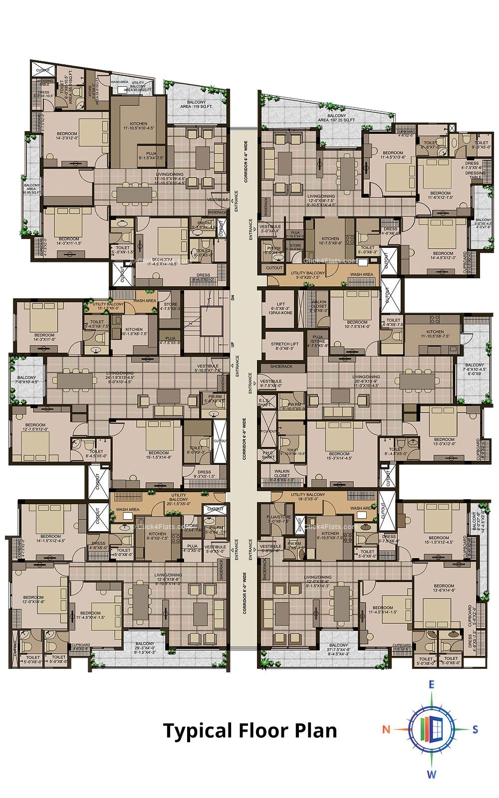 Mayfair Typical Floor Plan