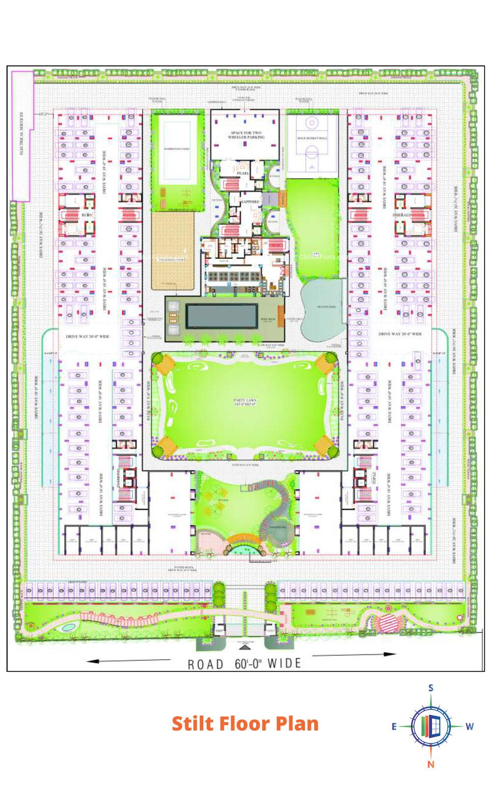 Kohinoor Residency Stilt Floor Plan