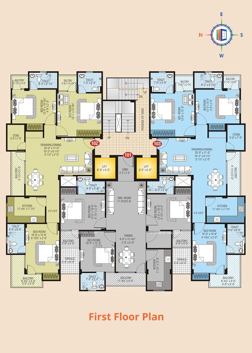 SDC Dav First Floor Plan
