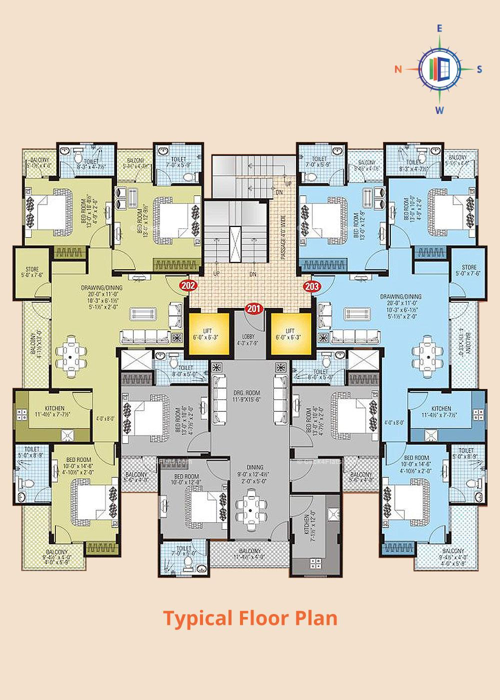 SDC Dav Typical Floor Plan