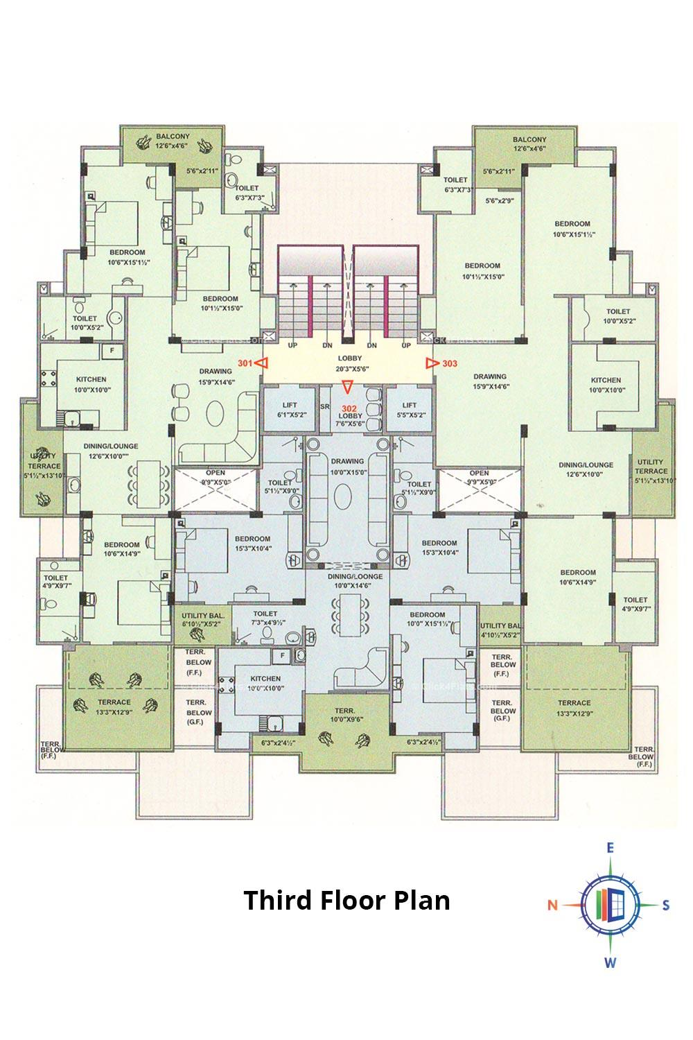 Pearl Passion Goverdhan Third Floor Plan