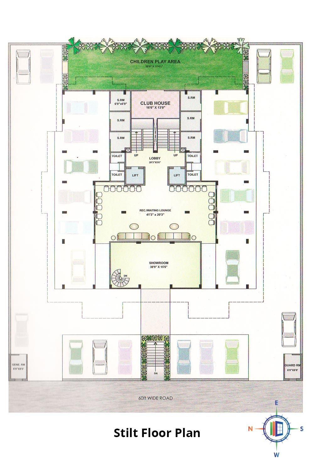 Pearl Passion Goverdhan Stilt Floor Plan