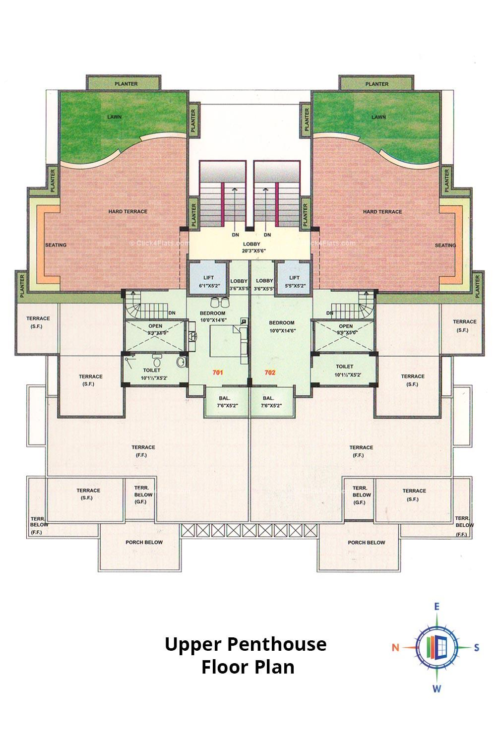 Pearl Passion Goverdhan Upper Penthouse Floor Plan